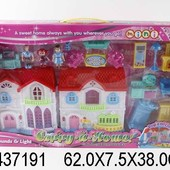 Домик с куколками, мебелью, свет, звук, в кор. 62,0*7,5*38,0см