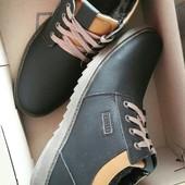 Мужские ботинки кожа на меху