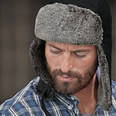 Теплая шапка-ушанка TCM Tchibo  германия , размер 56-58