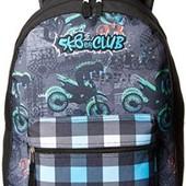 Рюкзак для мальчика с принтом мотоцикла SKR Club. Америка.