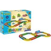 Железная дорога паркинг эстакада Kid Cars 3. 1 м Wader 51701