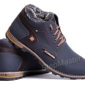 Ботинки кожаные зимние Columbia Winter синие