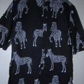 "Стильная мужская рубашка Vailent ""зебры"",размер М"
