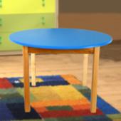 Детский деревянный столик с цветной круглой столешницей, Финекс+ арт 031