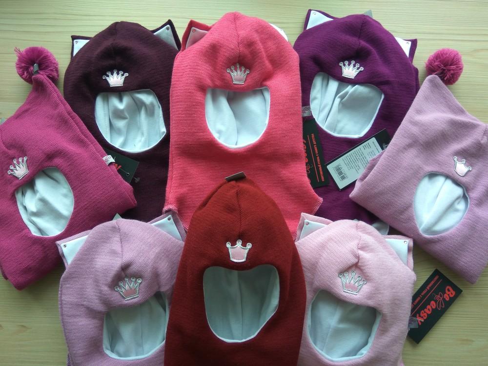 Зимние шлемы для девочек be easy в наличии 100%шерсть мериноса фото №1