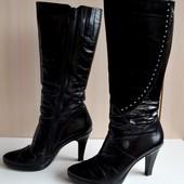Зимние кожаные сапоги, 39 р., 25,5 см