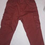 Стильные брюки на трикотажной подкладке 86-92 см