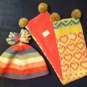 Комплект шапка + шарфик на флисе Next (от 1 - 2 лет)