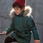 Пуховики для мальчика в наличии, 4 цвета размера от 120-160см