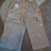 Штанишки бархвтные для девочки -98 размерв