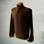 Теплый мужской свитер 15% шерсти р.XL Bltd Италия