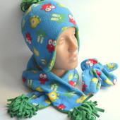 Шапка+шарф+варежки (1-2 года)