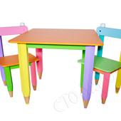 """Детский деревянный столик 60*40 """"Карандашики"""""""