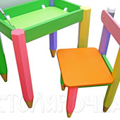 ЭКО мебель Столик с пеналом 60*40