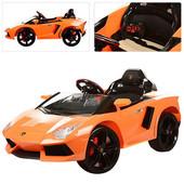 Электромобиль Lamborghini M 3217 ebr-7 на eva колёсах, оранжевый