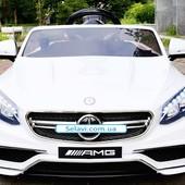Детский электромобиль Mercedes M 2797 ebr-1, мягкие колеса eva, белый