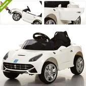 Электромобиль M 3176 EBR-1, мягкие eva колеса, белый