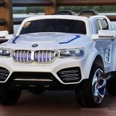 Детский электромобиль J-030 Джип BMW, белый