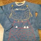 флисовый верх от пижамы Nutmeg   на 9-10  лет замеры: плечи 34 см, пог 39 см, длина 52см, рукав 49 с