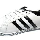 Кроссовки Adidas Кожаные Спортивные-Мужские 330С