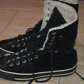 Converse All Star 41 р Кожаные кеды кроссовки высокие зимние
