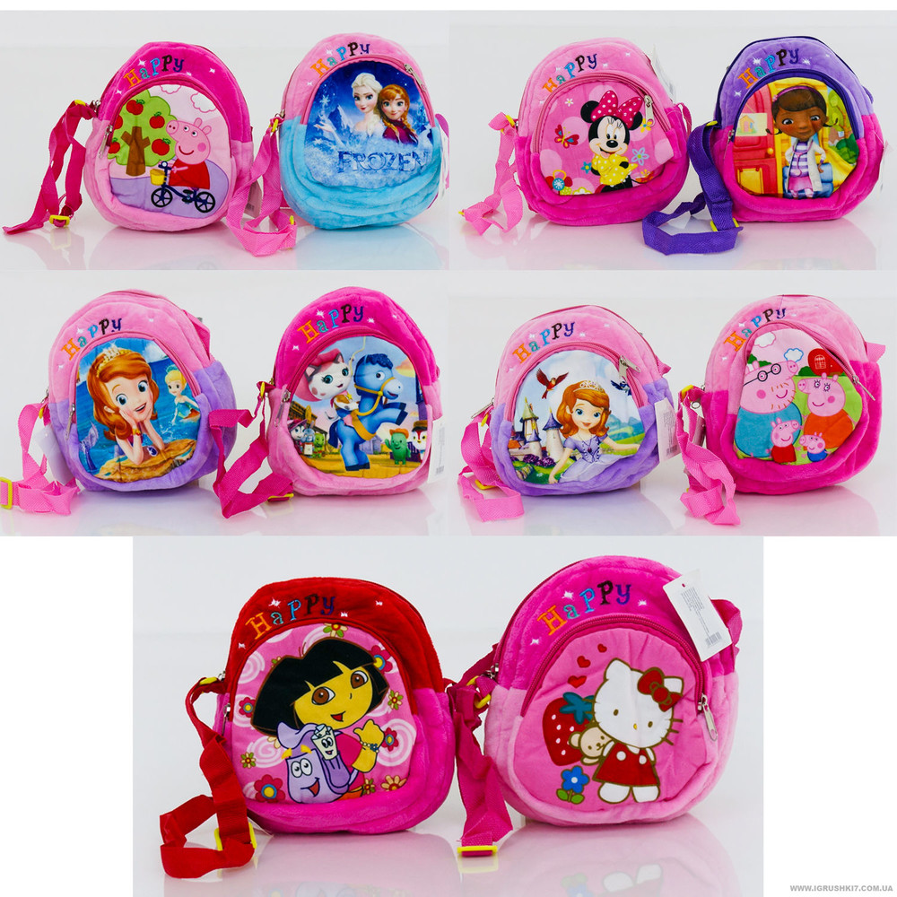 Детская плюшевая сумочка Мульти 18 на 17 см фото №1