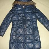 Фирменное пальто куртка еврозима девочке на 11-13 лет
