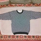 Толстый шерстяной жаккардовый свитер Maritime PW clothing1886 Норвгия