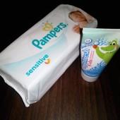 """Детский наборчик""""Влажные салфетки 56штук+детская зубная паста Орифлэйм"""
