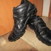 Зимние кожаные ботинки на цигейке