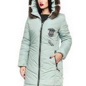 Зимняя куртка фисташковая