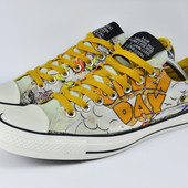 Легендарные кеды Converse Chuk Talor all star green day. Стелька 28, 5см