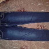Зимние утеплённые стрейчевые джинсы для девочки