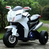 """Мотоцикл детский BMW """"eva kолесо"""" FT-6288 белый"""