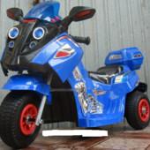 Детский мотоцикл-мопед FT 747 надувные колеса,синий