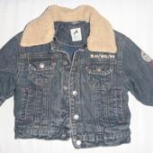 куртка джинсовая утеплённая на 2-3 года