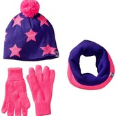 Комплект шапка + хомут + перчатки. на девочку подростка.