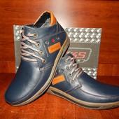 Мужские зимние ботинки Madoks 43р. синие. Распродажа!