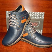 Мужские зимние ботинки Madoks синие. Распродажа!