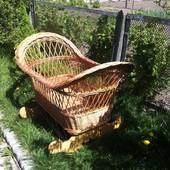 Колибелька люличка кроватка для малыша дерево