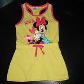 платье Disney Минни 1-1,5 года отл.состояние. длина 49 см,подмышки 26,талия 23,5 100% коттон
