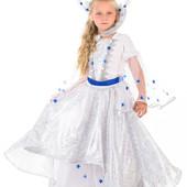 Прокат костюм Снігової королеви 125-146 см, снежной королевы, зима, снігова королева - Позняки