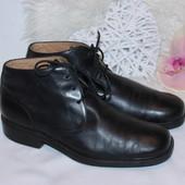 42 28,5см Clarks Натуральные мужские кожаные ботинки туфли