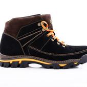 Зимние Ботинки Кожа (049ч)