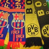 Фирменние шарфи шарф оригинали Ф.к Борусия и Ф.к Барселона .