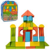 Деревянная игрушка Конструктор Городок в рюкзаке 39 эл. А03154