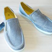 Туфли мокасины слипоны мужские серые 43 размер Livergy