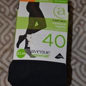 безразмерные колготы чёрные 3 пары бренд avenue Англия 40 ден размер L суперкачечтво