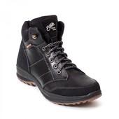 Ботинки кожаные мужские Bastion 087ч, прорезиненные носок и пятка