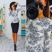 Костюм баска+юбка, разные расцветки